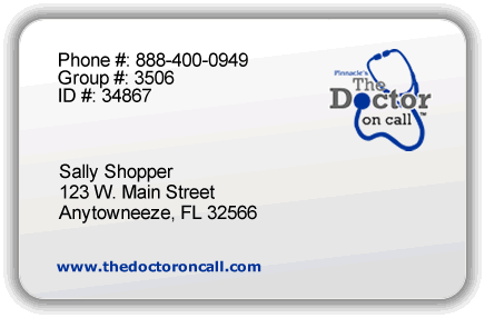 Image of a The Doctor on call membership card